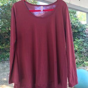 LuLaRoe XL Lynnae Long Sleeve Top